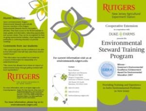 Rutgers Environmental Stewardship program brochure