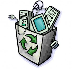 e-waste-recycle bin