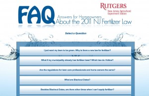 Rutgers fertilizer restriction FAQ