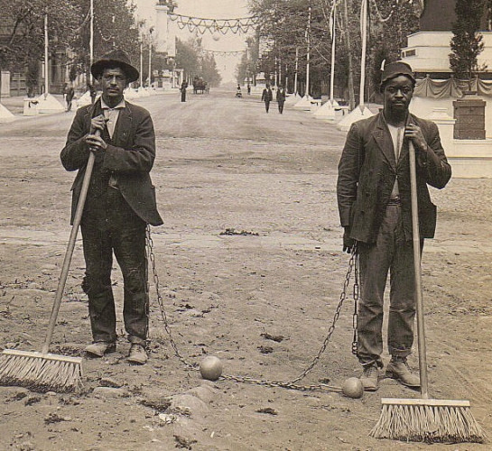 Chain Gang Street Sweepers