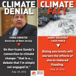 Christie denies Sandy is result of climate change