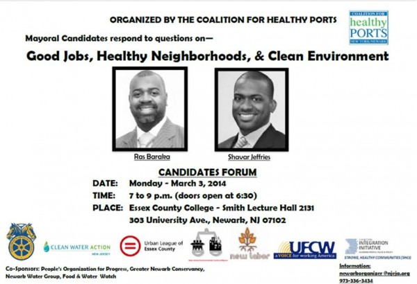 Newark Mayor Healthy City/Green Jobs Forum