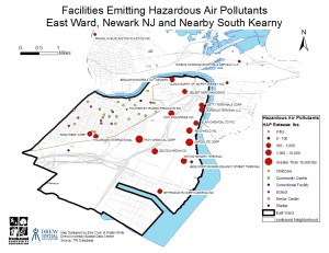 Newark Ironbound Air Pollutants