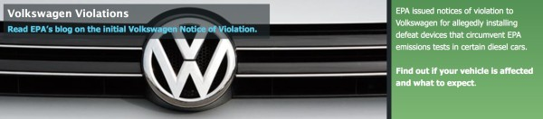 EPA actions against VW