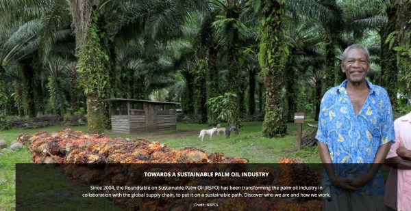 Sustainably harvested palm oil