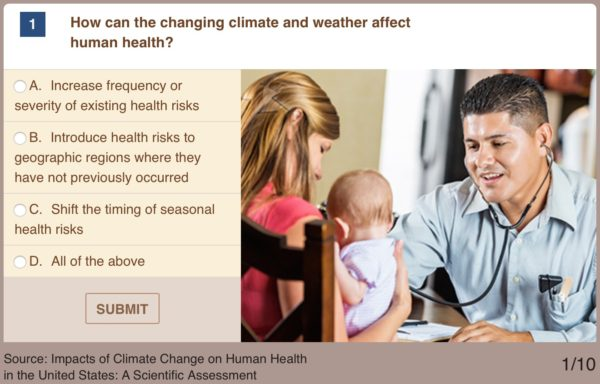 EPA Quiz: Do you know how much climate change affects our health
