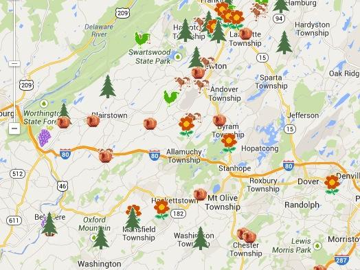 NJ Christmas Tree Map