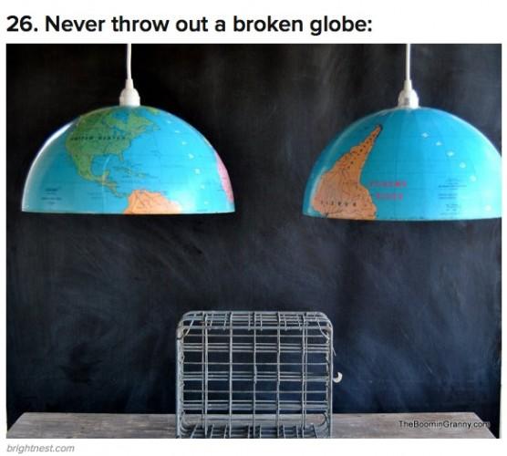 half globe lights