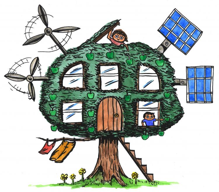 green alternative energy house